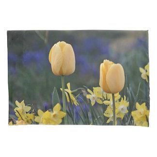 Yellow tulips pillowcase