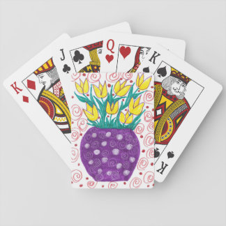 Yellow Tulips / Purple Vase Playing Cards