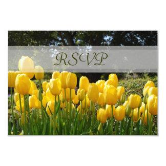 Yellow Tulips RSVP Card
