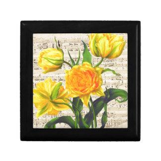 Yellow tulips song gift box