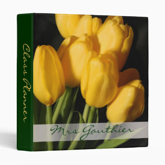 Yellow Tulips Teachers Class Planner School Binder