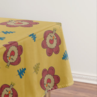 Yellow turkey tablecloth