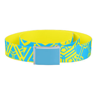 Yellow Turquoise Geometric 4Sascha Belt