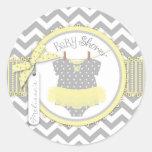 Yellow Tutu & Chevron Print Baby Shower