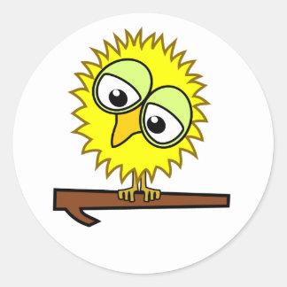 Yellow Tweet Classic Round Sticker