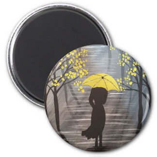 Yellow Umbrella Magnet