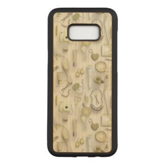 Yellow Vanity Table Carved Samsung Galaxy S8+ Case
