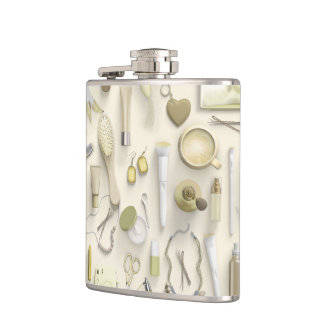 Yellow Vanity Table Hip Flask