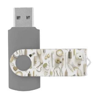Yellow Vanity Table Swivel USB 2.0 Flash Drive