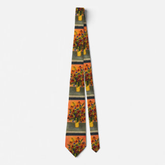 """Yellow Vase"" Flower Garden Neck Tie"