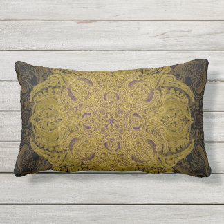 Yellow Velvet Patio Outdoor Pillow