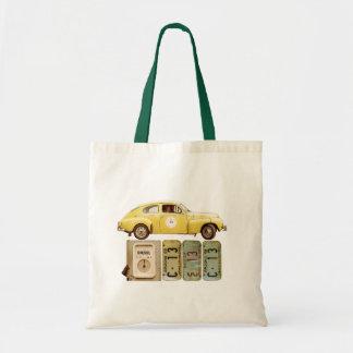 Yellow Vintage Car Tote Bag