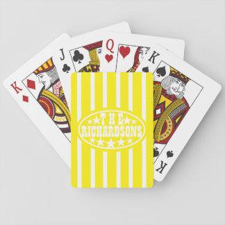 Yellow Vintage Carnival Family Poker Deck