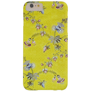 Yellow Vintage Flower Pattern Barely There iPhone 6 Plus Case