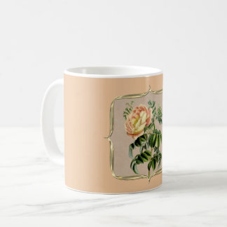 Yellow Vintage Rose Coffee Mug
