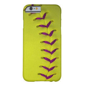 Yellow w/Purple Stitches Baseball/Softball Barely There iPhone 6 Case