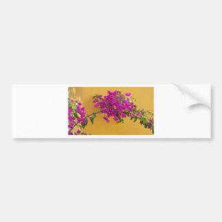 Yellow Wall Pink Flower Arch Sunshine Bumper Sticker