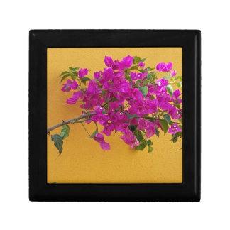 Yellow Wall Pink Flower Arch Sunshine Gift Box