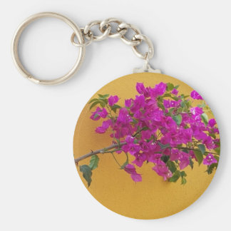 Yellow Wall Pink Flower Arch Sunshine Keychain