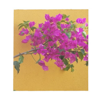 Yellow Wall Pink Flower Arch Sunshine Notepad