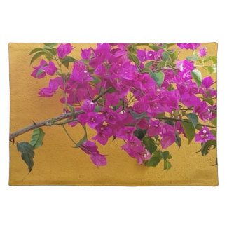 Yellow Wall Pink Flower Arch Sunshine Placemat