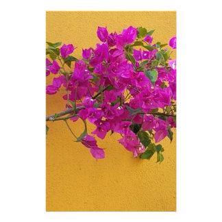 Yellow Wall Pink Flower Arch Sunshine Stationery