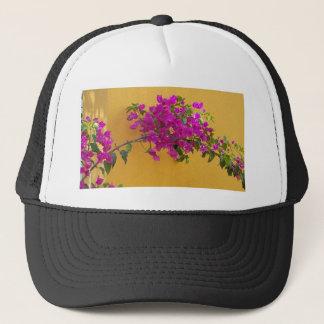 Yellow Wall Pink Flower Arch Sunshine Trucker Hat