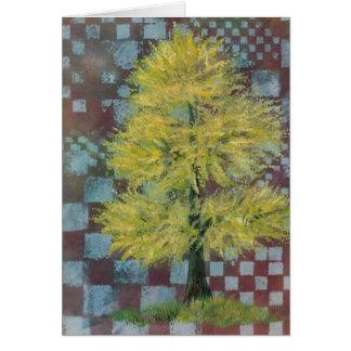 Yellow Walnut Tree Card