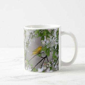 Yellow Warbler and Spring Blossoms Coffee Mug