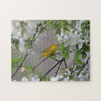 Yellow Warbler and Spring Blossoms Puzzle