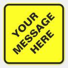 Yellow Warning sign Square Sticker