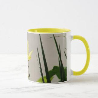 Yellow water lily - yellow ring coffee mug