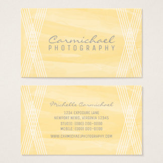 Yellow Watercolor Deco Business Card
