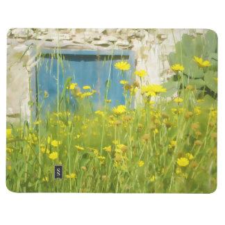 Yellow watercolor flowers journals