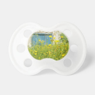 Yellow watercolor flowers pacifier