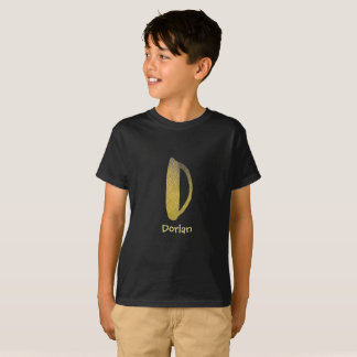 Yellow watercolor letter D - custom name T-Shirt