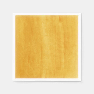 Yellow Watercolor Modern Painted Distressed Paper Napkins