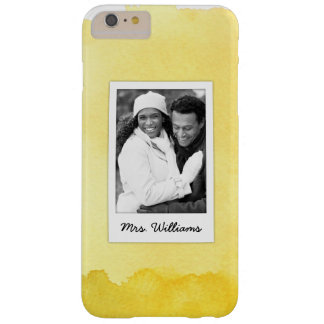 Yellow Watercolor Paint | Add Photo Barely There iPhone 6 Plus Case