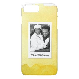 Yellow Watercolor Paint | Add Photo iPhone 8 Plus/7 Plus Case