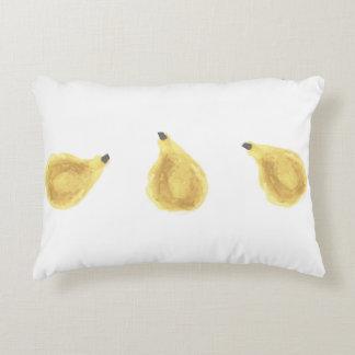 Yellow Watercolor Pear Pillow