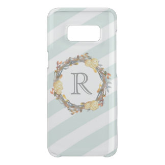 Yellow Watercolor Roses On A Twig Wreath Monogram Uncommon Samsung Galaxy S8 Case