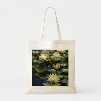 Yellow Waterlilies Lotus tote bag