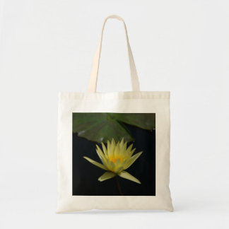 Yellow Waterlily Lotus tote bag