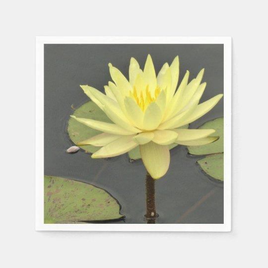 Yellow Waterlily Napkins Paper Napkins