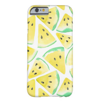 Yellow watermelon slices pattern barely there iPhone 6 case