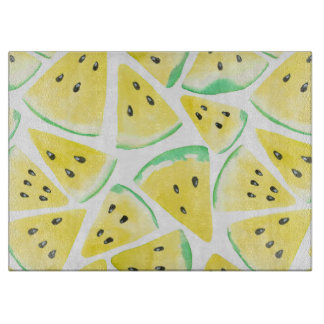 Yellow watermelon slices pattern boards