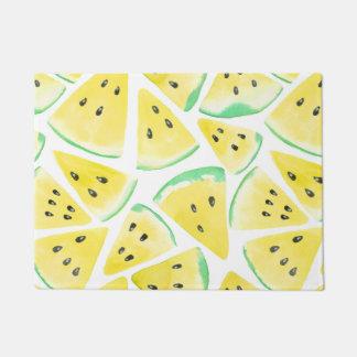 Yellow watermelon slices pattern doormat