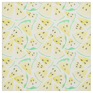 Yellow watermelon slices pattern fabric