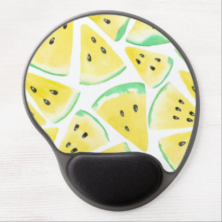Yellow watermelon slices pattern gel mouse pad