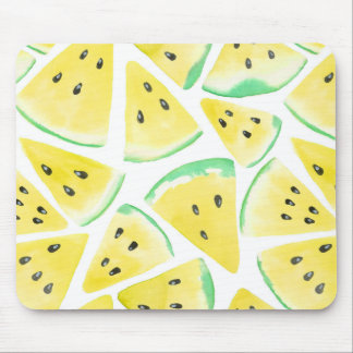 Yellow watermelon slices pattern mouse pad